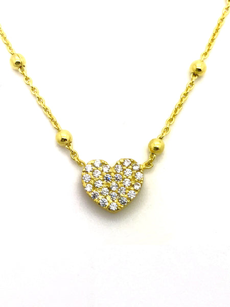 Argento 925 - Collana donna Gold Heart - monility