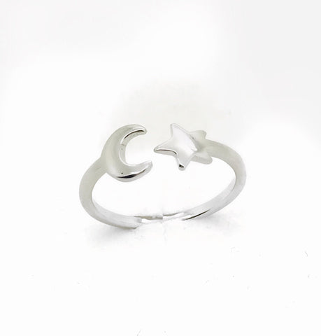 Anello donna Moon Star silver misura 9 - monility