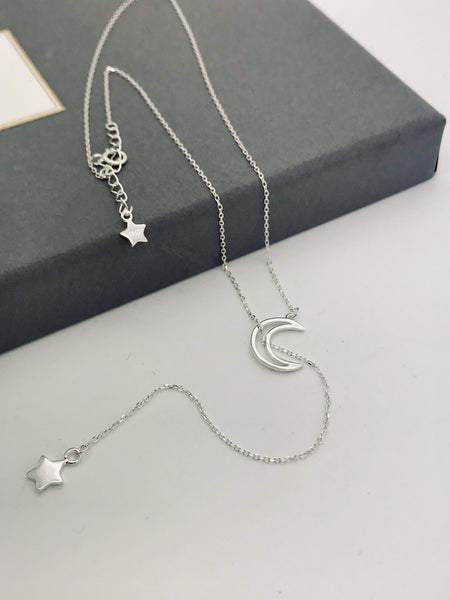 Argento 925 - Collana donna Moon Star - monility