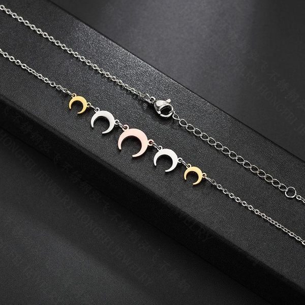 Collana donna Five Half Moons Silver