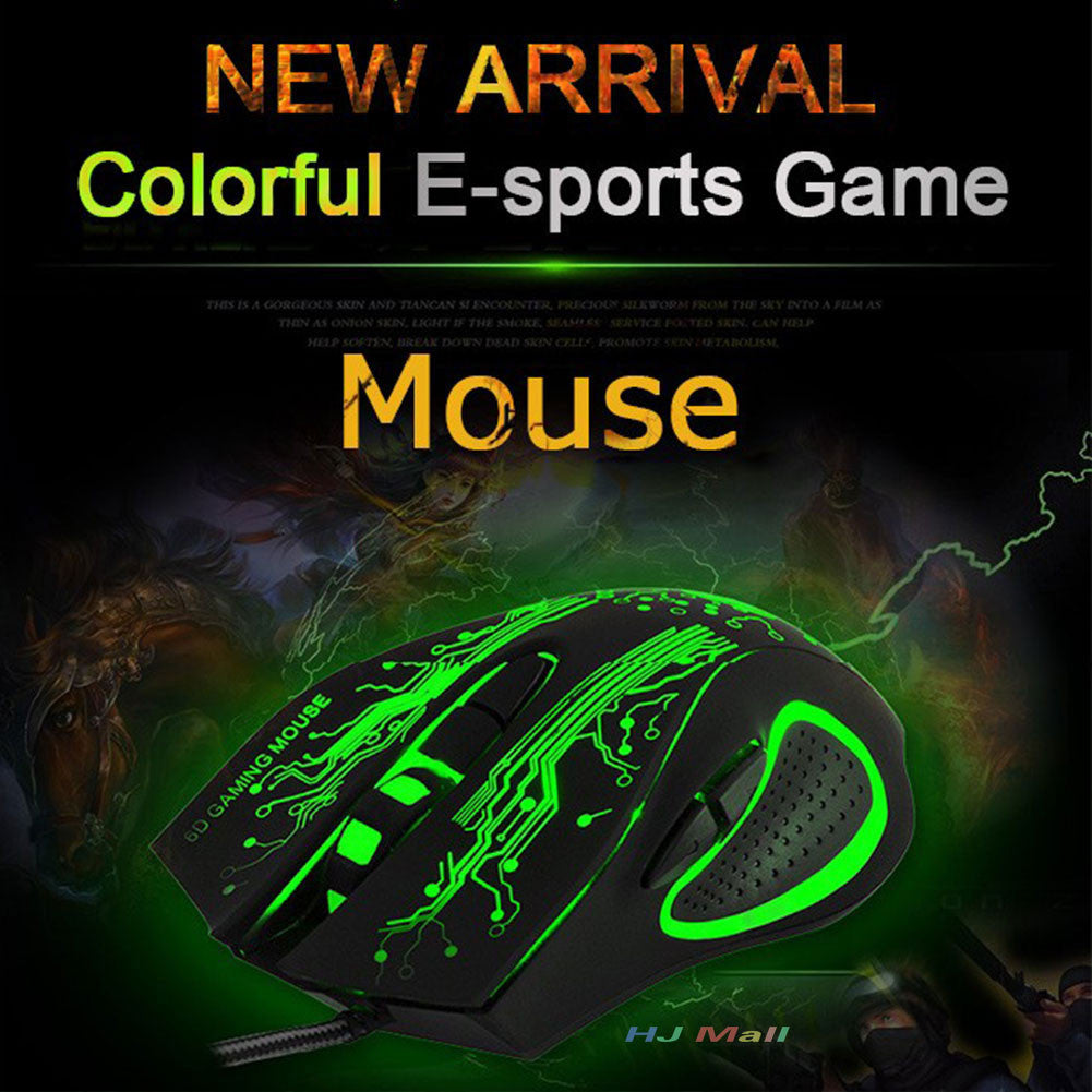 Wired LED Mouse 2400DPI