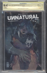 Unnatural #1 Foil Exclusive CBCS 9.6 signed by Mirka Andolfo