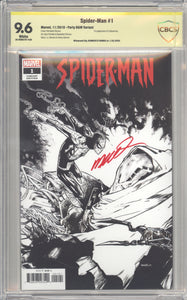 Spider-Man #1 Variant Humberto Ramos Sketch Party CBCS 9.6 signed Ramos