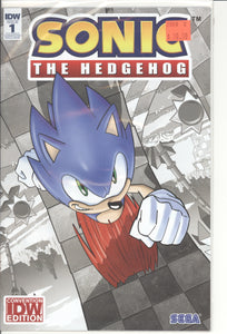 Sonic The Hedgehog #1 Convention Exclusive Cover Variant SDCC