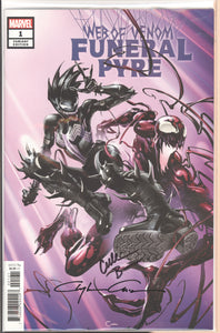 Web of Venom Funeral Pyre #1 signed Clayton Crain and Cullen Bunn