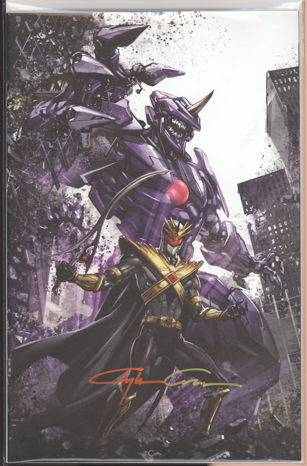 Drakkon New Dawn #1 Virgin signed Clayton Crain