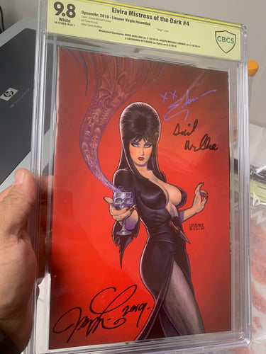 Elvira Mistress of the Dark #4 CBCS 9.8 Signed by Elvira, Avallone and Linsner