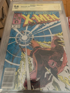 X-Men #221 Newsstand CBCS 9.6 Signed by Chris Claremont