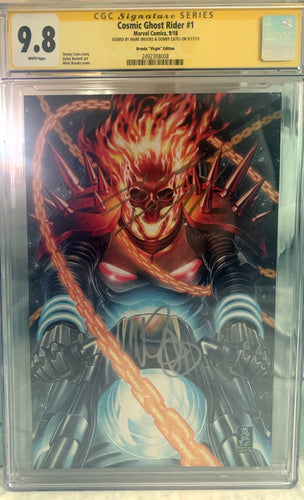Cosmic Ghost Rider #1 Brooks 1:100 CGC SS 9.8 Signed Cates Brooks