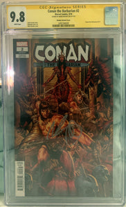 Conan the Barbarian #2 1:50 Brooks CGC SS 9.8 Brooks