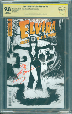 Elvira Mistress of the Dark #1 CBCS 9.8 Signed by Elvira