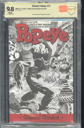 Classic Popeye #41 CBCS 9.8 signed by Kelley Jones