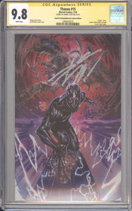 Thanos 15 4th Print Virgin CGC 9.8 Signed Cates 1st Fallen One
