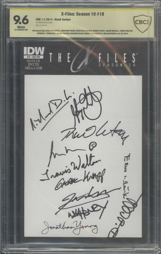 X-Files: Season 10 #1 CBCS 9.6 Signed by 11 Aliencon Ancient Aliens