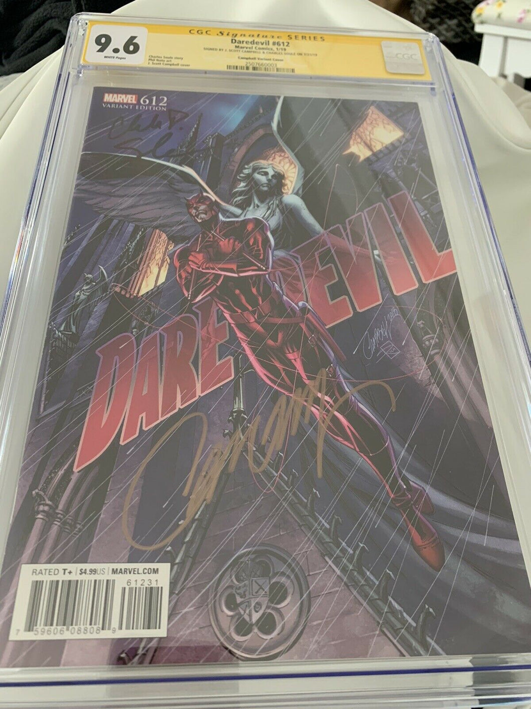 DAREDEVIL 612 CGC SS 9.6 J SCOTT CAMPBELL 1:100 VARIANT Campbell and Soule
