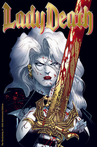 Lady Death #1 The Reckoning GOLD FOIL 25th Anniversary