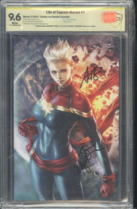 Life of Captain Marvel #1 Artgerm Virgin CBCS 9.6 Artgerm and Stohl