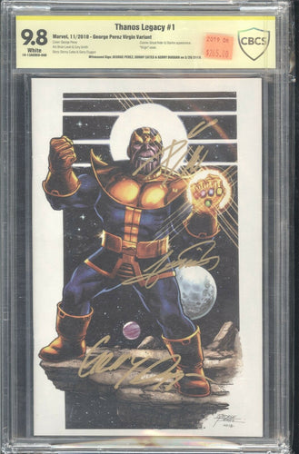 THANOS LEGACY #1 PEREZ VIRGIN CBCS 9.8 Signed Perez, Duggan and Cates
