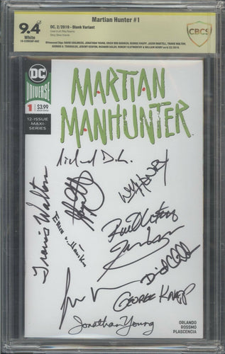 Martian Hunter #1 CBCS 9.4 Signed by 11 Aliencon Ancient Aliens
