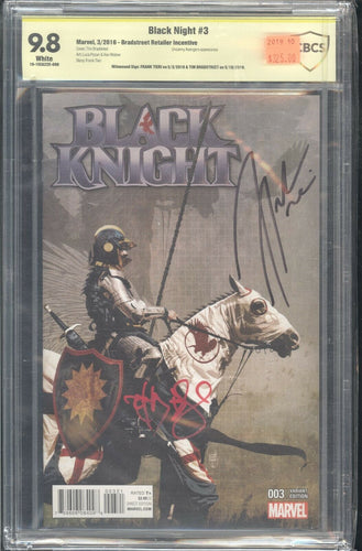 Black Knight #3 1:25 CBCS 9.8 Signed by Bradstreet Tieri