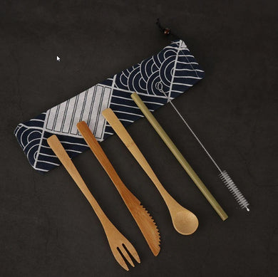 Cutlery Set - Bamboo - 6 piece