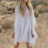 Fashion Defined Waist Dolman Sleeve Beach Blouse