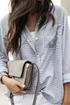 Sexy Fashion Striped Chiffon Shirt