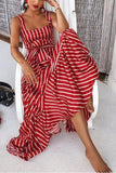 Vintage Striped  Maxi Dresses