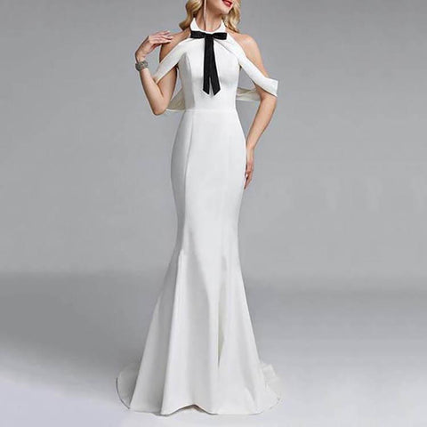 Backless Sexy Slim Evening Maxi Dress