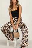 Loose Fitting  Leopard Printed Pants