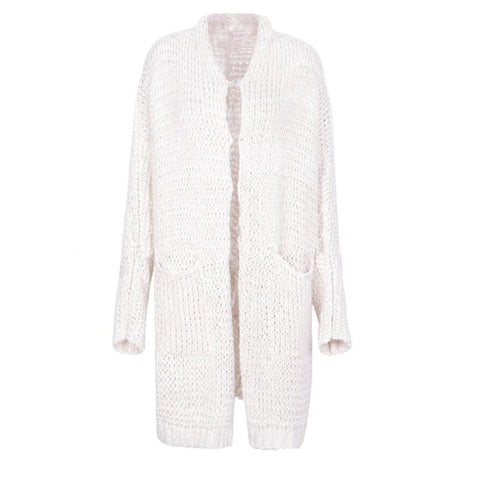Mohair Loose Bat Sleeve Knit Cardigan