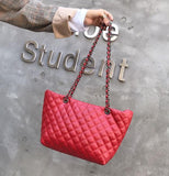 Pure Color PU Leather Chain Single Shoulder Bag Slanting Across Dumplings