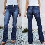 Slim Fit Casual Jeans Flared Trousers