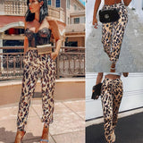 Fashion Casual Leopard   Print Fedora Pants