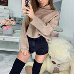 Turtle Neck Long Sleeve Loose Fashion T-Shirts