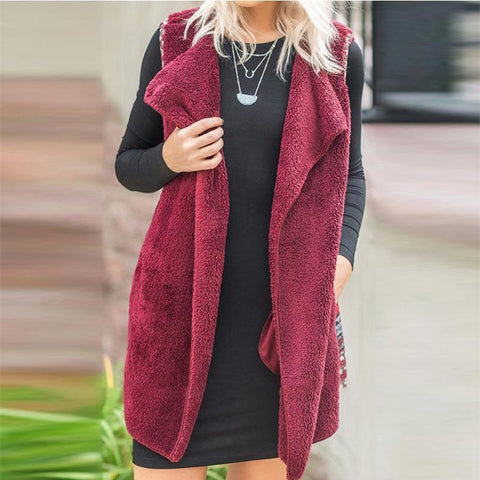 Fold Over Collar  Print Outerwear