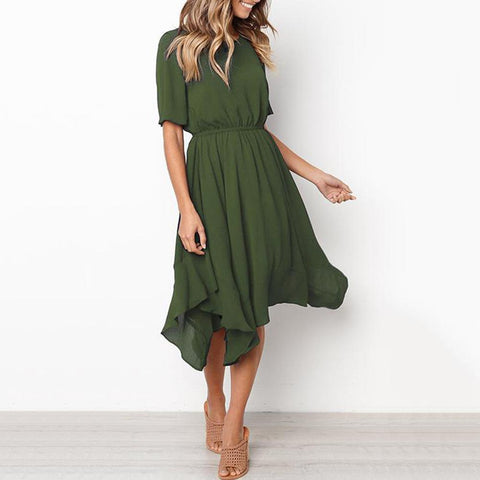 Casual Sexy Loose Show   Thin Maxi Dress