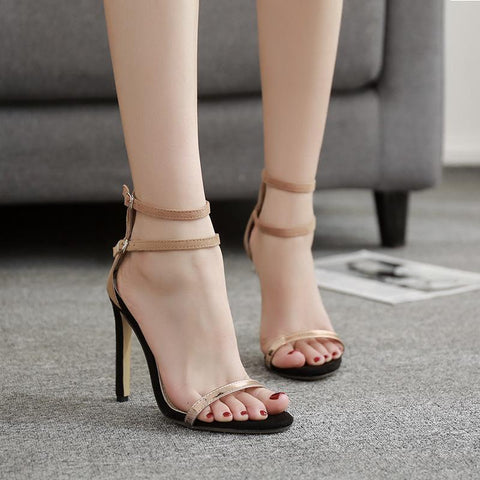Summer New Peep Toe Stiletto High Heels Sandals
