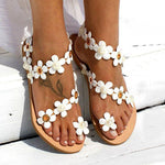 SLIP-ON THONG FLAT WITH BEACH WESTERN SANDALS