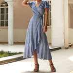 Casual Wave Point Irregular Hem Dress