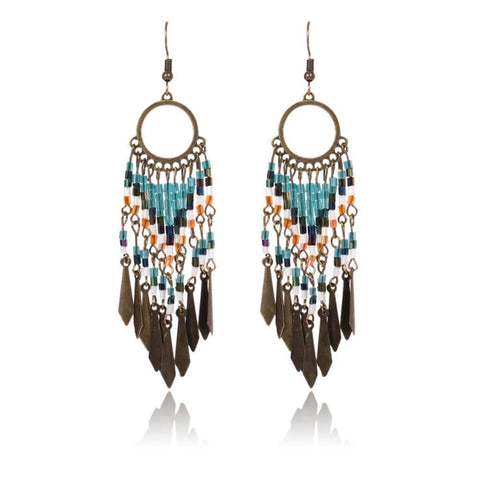Fashion beaded bohemian style earrings