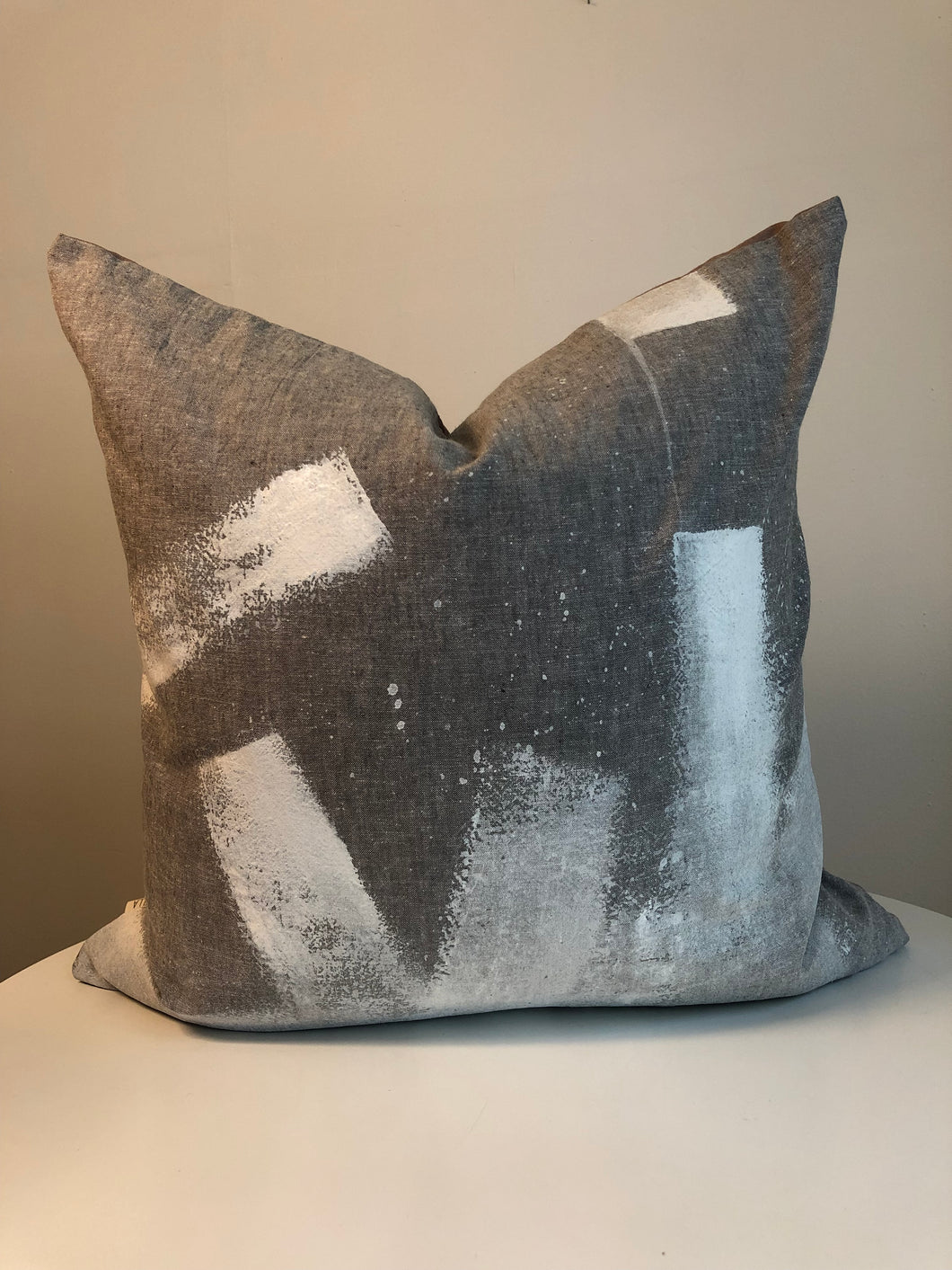 Hand Painted Cushion Cover - Slate 1L
