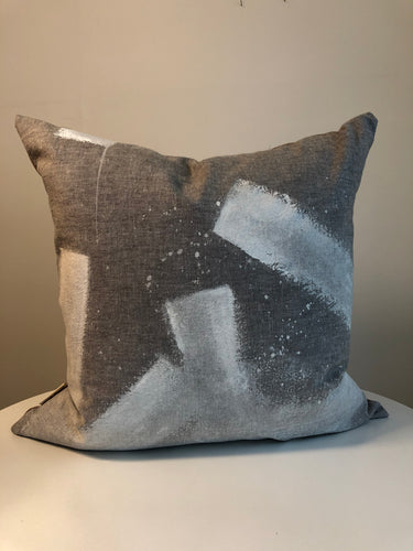 Hand Painted Cushion Cover - Slate 1R