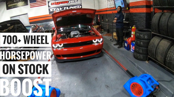 A Cold Air Intake And Exhaust DOES Add Power: Over 700 wheel HP Hellcat