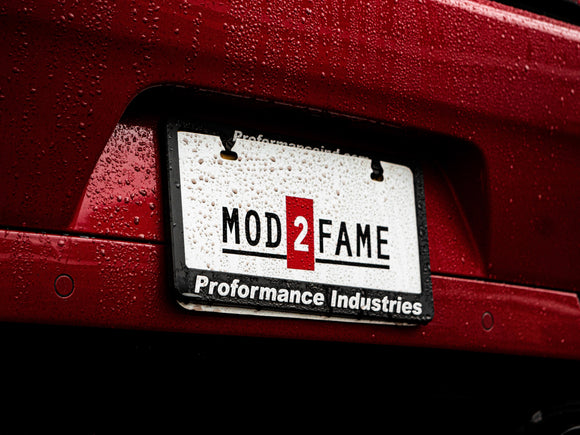 Mod2Fame Decal - Black Letter Red Box