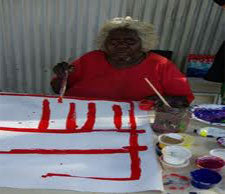 aboriginal artist female painter dot art ivy poulson
