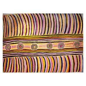"z Art Canvas - ""Women's Business"" Aboriginal Painting by Maggie Nakamarra"