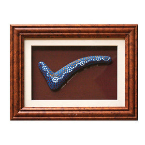 z Art Framed Boomerang - Aboriginal Hand Painted with Small Dot Art 7