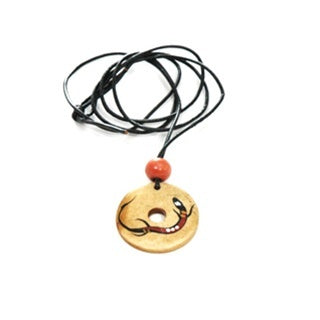 z Necklace - Handpointed Bone - Doughnut Shaped