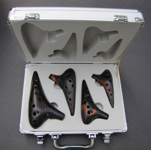 Wind - Ocarina 4 Piece Sets in Keys AC, SF, SG, SC with Hard Carrying Case